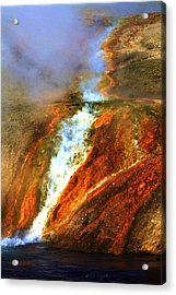 Hot Flow Acrylic Print by Russell  Barton