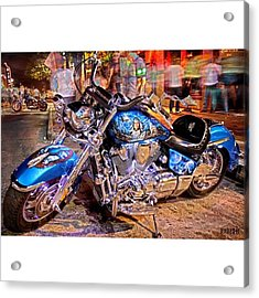 Hot Harley During Rot Acrylic Print by Andrew Nourse