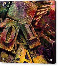 Hot Metal Type Acrylic Print