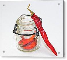 Hot Pepper Acrylic Print by John Mueller