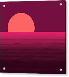 Hot Pink Sunset Acrylic Print