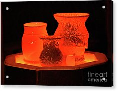 Acrylic Print featuring the photograph Hot Pots by Skip Willits
