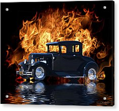 Hot Rod Acrylic Print by Patricia Stalter
