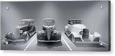 Hot Rod Power Black And White Poster Acrylic Print by Dapixara Art
