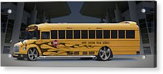 Hot Rod School Bus Acrylic Print by Mike McGlothlen
