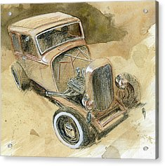 Hot Rod Tudor Acrylic Print