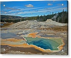Hot Spring Acrylic Print by Robert Pilkington