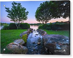 Hot Spring Water Flow Acrylic Print