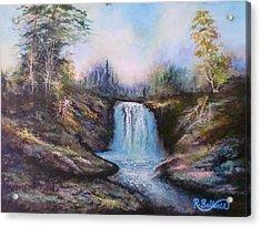 Hot Springs Water Fall Acrylic Print