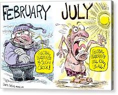 Hot Summer Global Warming Acrylic Print