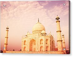 Hot Taj Mahal Acrylic Print by Nila Newsom