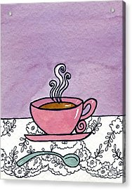 Hot Tea Acrylic Print by Norma Appleton
