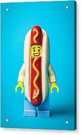 Hotdog Dude Acrylic Print by Samuel Whitton