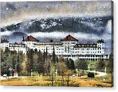 Hotel At Mount Washington Acrylic Print