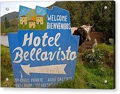 Hotel Bellavisto Acrylic Print by Lynn Friedman