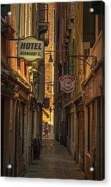 Hotel Bernardi S Acrylic Print by Chris Fletcher