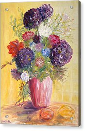 Acrylic Print featuring the painting Hotel Bouquet by Barbara Anna Knauf