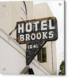 Hotel Brooks Acrylic Print by Art Block Collections