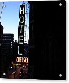 Hotel Chelsea Acrylic Print by Xavier Wasp