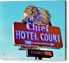 Acrylic Print featuring the photograph Hotel Chief Court by Matthew Bamberg