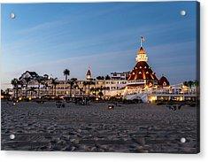 Hotel Del At Twilight Acrylic Print