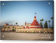 Hotel Del Coronado Dusk Acrylic Print