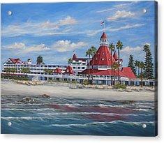 Hotel Del Coronado Acrylic Print by Lisa Reinhardt