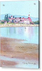Hotel Del Coronado Low Tide Acrylic Print by Mary Helmreich