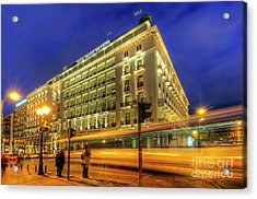 Acrylic Print featuring the photograph Hotel Grande Bretagne - Athens by Yhun Suarez