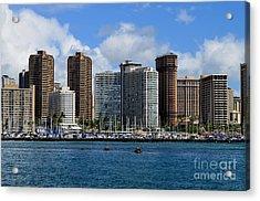 Hotel Ilikai And Neighbors - Honolulu Hawaii Acrylic Print