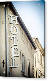 Acrylic Print featuring the photograph Hotel by Jason Smith