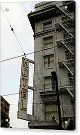 Hotel Acrylic Print by Linda Shafer