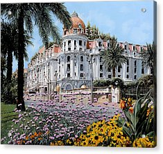 Hotel Negresco  Acrylic Print by Guido Borelli
