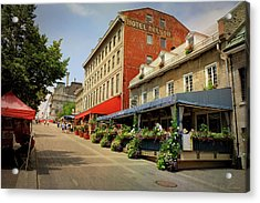 Hotel Nelson - Place Jacques Cartier Acrylic Print by Maria Angelica Maira
