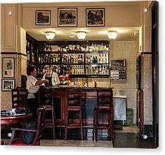 Acrylic Print featuring the photograph Hotel Presidente Bar Havana Cuba by Charles Harden