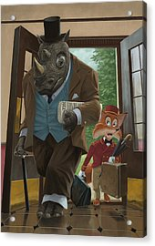 Hotel Rhino And Porter Fox Acrylic Print