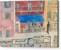 Hotel Sube St Tropez 2012 Acrylic Print by Bill White