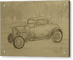 Hotrod 1934 Ford Coupe Acrylic Print by Cary Singewald