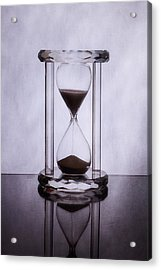 Hourglass - Time Slips Away Acrylic Print by Tom Mc Nemar