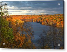 Acrylic Print featuring the photograph Housatonic In Autumn by Karol Livote