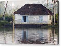 House Along The Kerala Backwaters Acrylic Print by Andrew Soundarajan
