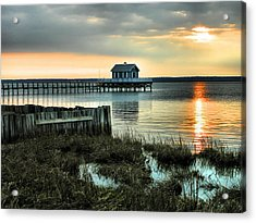 House At The End Of The Pier II Acrylic Print by Steven Ainsworth