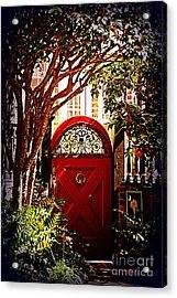 House Door 5 In Charleston Sc  Acrylic Print