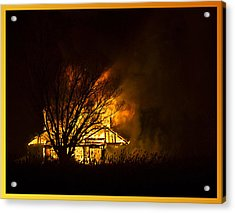 House Fire Acrylic Print