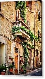 Acrylic Print featuring the photograph House In Arezzoo, Italy by Marion McCristall