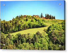 House In The Hillside Of Chianti Italy Acrylic Print