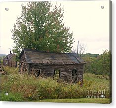 House Left Alone. Acrylic Print by Dennis Curry
