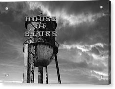 Acrylic Print featuring the photograph House Of Blues B/w by Laura Fasulo