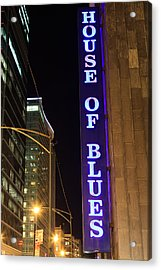 House Of Blues Sign In Chicago Acrylic Print by Paul Velgos