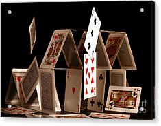 House Of Cards Acrylic Print by Jan Piller